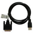 savio cl 139 cable hdmi 19pin male dvi 18 1 male 18 m black gold terminals extra photo 1