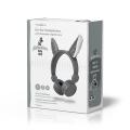 nedis wired headphones willy wolf grey extra photo 5
