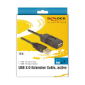 delock 82689 usb extension cable am af 15m black extra photo 3