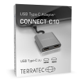 terratec 306697 connect c10 usb type c adapter with 2x hdmi extra photo 2