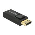 delock 65571 adapter displayport 12 male hdmi female 4k passive black extra photo 1