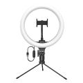 baseus live stream holder table stand 25cm light ring black extra photo 1