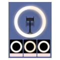 baseus live stream holder table stand 25cm light ring black extra photo 5