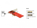 delock 89577 pci express x4 card 1 x internal nvme m2 key m 110 mm with heat sink extra photo 4
