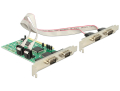delock 89046 pci card 4 x serial rs 232 extra photo 1