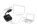 delock 62712 adapter high speed hdmi a female displayport 12 male extra photo 1