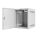 lanberg wall mounted rack 10 6u 280x310 flat pack with metal door grey extra photo 2