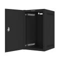lanberg wall mounted rack 10 9u 280x310 flat pack with metal door black extra photo 2
