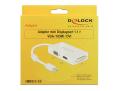 delock 62630 adapter mini displayport 11 male vga hdmi dvi female passive white extra photo 2