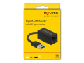 delock 65903 adapter superspeed usb type a male gigabit lan compact black extra photo 2