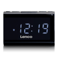 lenco cr 525bk clock radio with usb charger and player extra photo 1