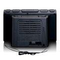 lenco cr 525bk clock radio with usb charger and player extra photo 2