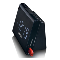 lenco cr 525bk clock radio with usb charger and player extra photo 3