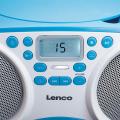 lenco scd 200bu portable radio cd mp3 player with usb blue extra photo 2