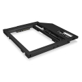raidsonic icy box ib ac649 adapter for 25 hdd ssd in notebook dvd bay extra photo 2