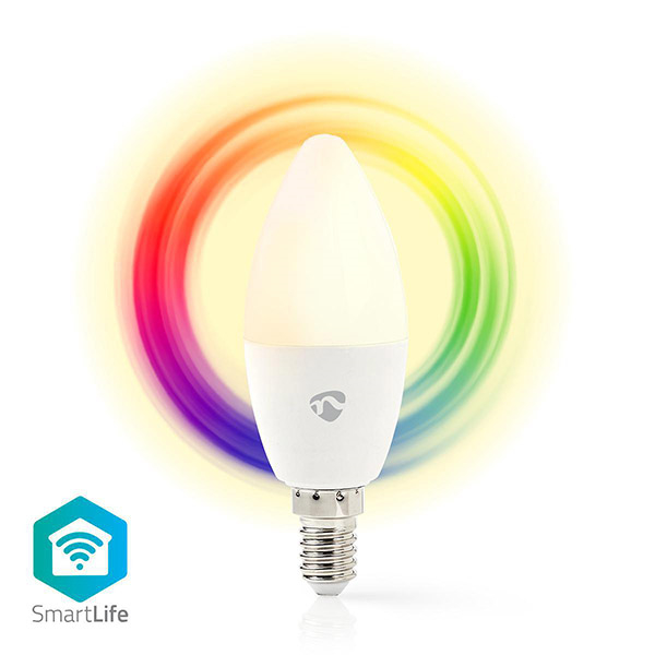 nedis wifilc11wte14 wi fi smart rgb led bulb e14 45w 350lm extra photo 2