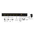 logilink hd0052 hdmi switch 4x1 port multiviewer 1080p 60 hz scaler extra photo 4