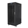 lanberg free standing rack 19 27u 600x800mm flat pack black with mesh door lcd extra photo 4