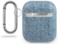 guess case denim triangle for apple airpods gen 1 apple airpods gen 2 light blue guaca2tpujullb extra photo 1