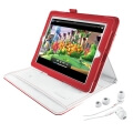 trust 19107 premium folio stand in ear headphone for ipad red white extra photo 2