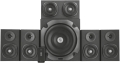 trust 22236 vigor 51 surround speaker system for pc black extra photo 1