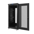 lanberg free standing rack 19 27u 600x600mm demounted flat pack black with perforated door lcd extra photo 1