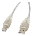 lanberg cable usb 20 am bm ferrite transparent 5m extra photo 1