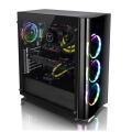 case thermaltake view 22 tempered glass edition black extra photo 4