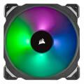 corsair ml140 pro rgb led 140mm pwm premium magnetic levitation fan twin pack extra photo 1