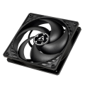 arctic p12 pwm fan 120mm black black extra photo 3