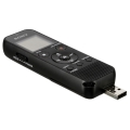 sony icd px370 mono digital voice recorder 4gb with built in usb black extra photo 2