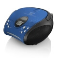 lenco scd 24 stereo fm radio with cd player blue extra photo 1