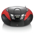 lenco scd 37 usb portable fm radio with cd player and usb red extra photo 1