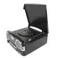 camry cr1134b turntable with cd mp3 usb sd recording black extra photo 1
