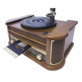 camry cr1160 turntable with tube with cd mp3 usb recording extra photo 2