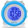 gotie gbe 200n digital clock with mechanical bell alarms blue extra photo 1