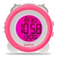gotie gbe 200r digital clock with mechanical bell alarms pink extra photo 1