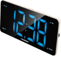 blaupunkt cr15wh clock radio with dual alarm and usb charging white extra photo 1