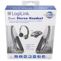 logilink hs0028 smile stereo high quality headset with microphone black extra photo 2