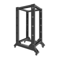 lanberg open rack 19 22u 600x800mm black extra photo 1