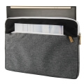 hama 101566 florence notebook sleeve 133 black grey extra photo 1
