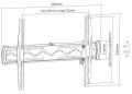 equip 650340 tv wall mount bracket 37 70 tilt extra photo 1