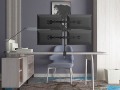 equip 650117 13 27 articulating quad monitor desk mount bracket extra photo 4
