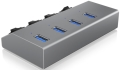 raidsonic icy box ib hub1405 4 port usb 30 hub and charger extra photo 1
