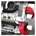 deepcool ec300 24p rd motherboard extension cable 30cm red extra photo 1