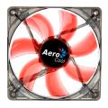 aerocool lightning led fan 120mm red extra photo 1