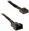 silverstone pwm extension cable 30cm black extra photo 1
