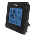 greenblue gb146b weather station dcf in out moon phase black extra photo 2