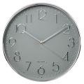 hama 186390 hama elegance wall clock 30 cm quiet silver grey extra photo 1