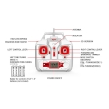syma x8hw 4 channel 24g rc quad copter with gyro camera gold extra photo 2
